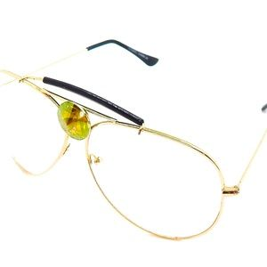 PATNER POWER SAGE CLEAR AVIATOR GLASSES NEW